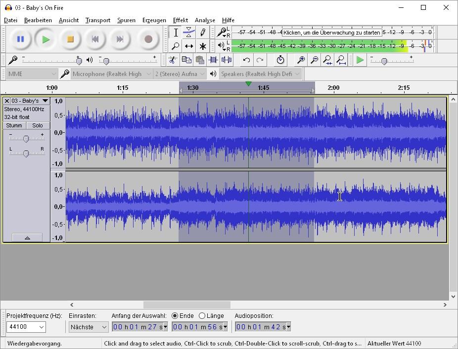 musik schneiden und zusammenfügen