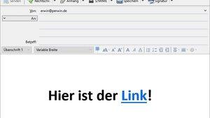 Link in E-Mail einfügen – so geht's