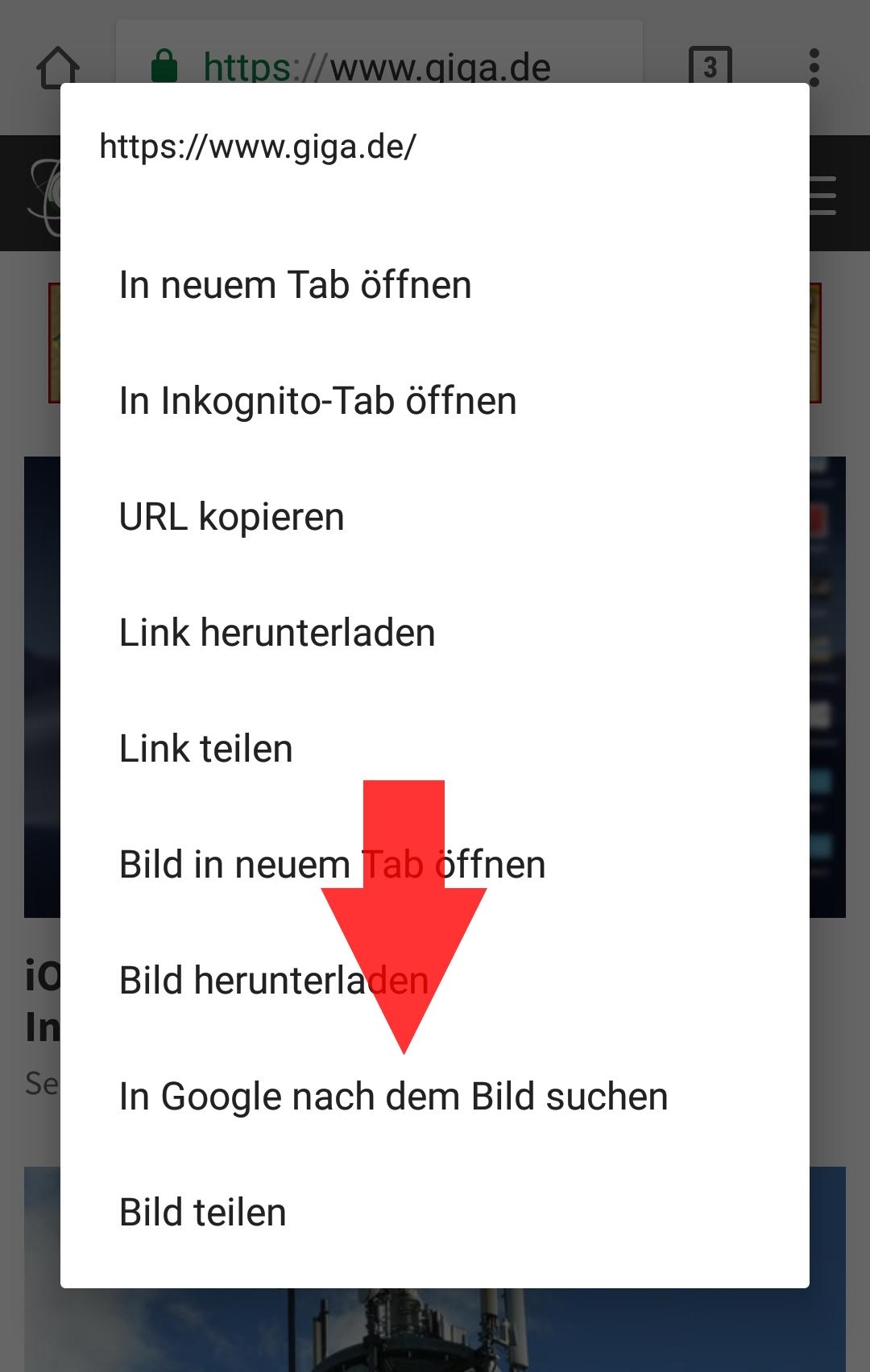 Bild Rückwärtssuche Android