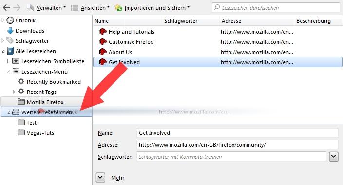 Firefox Lesezeichen Verwalten Addon