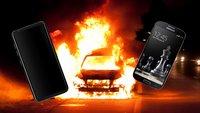 Auto abgebrannt: Neuer Akku-Ärger für Samsung?