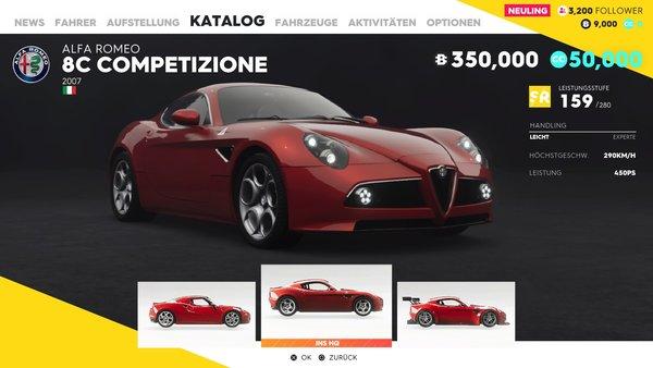 2007 alfa romeo 8c competizione – alle autos, motorräder, boote und