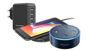 Amazon-Angebote: RAVPower USB- und Qi-Ladegeräte, Powerbank, Amazon Echo Dot und mehr