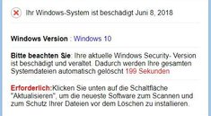 """""""Ihr Windows-System ist beschädigt"""": Vorsicht vor Fake-Webseite!"""