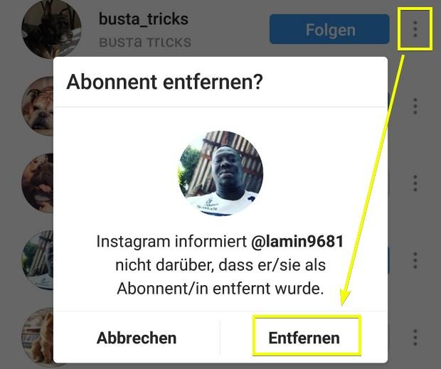 instagram löscht follower
