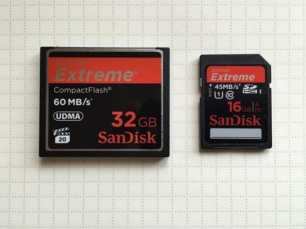 CF-Karte (CompactFlash) – Was ist das? Vorteil gegenüber SD-Speicherkarte?