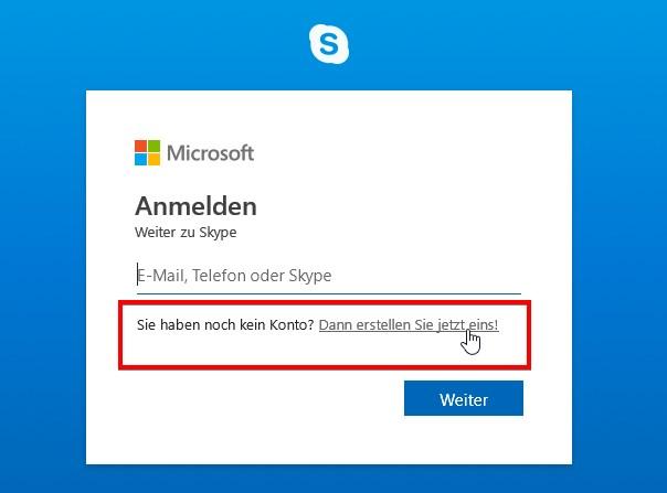 Skype-Login: Anmelden, neues Konto erstellen, einloggen und einrichten