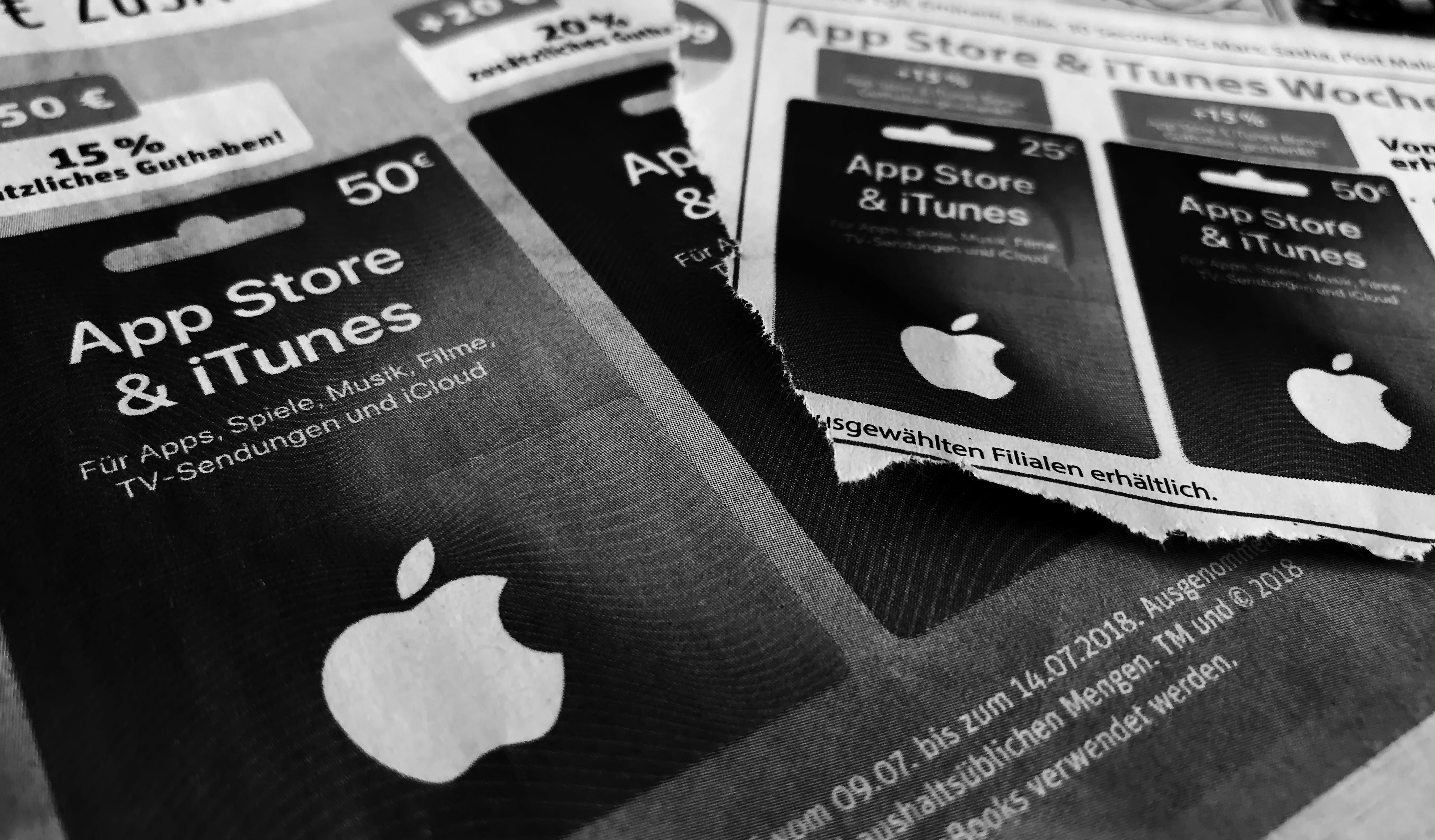 0d0c55b202ce56 iTunes-Karten mit Rabatt im Juli 2018  Bis zu 20 Prozent Bonusguthaben