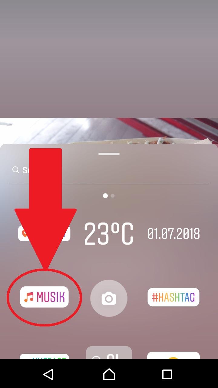 Musik bei instagram story