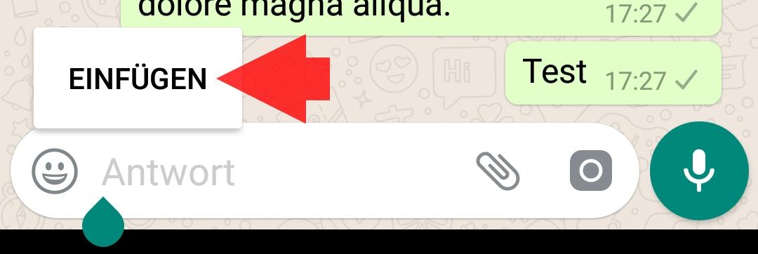 Text in whatsapp kopieren