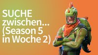 Fortnite: Suche zwischen Oase, Felsbogen und Dinosauriern (Woche 2, Season 5)
