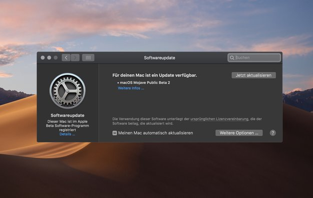 Zweite öffentliche Beta von macOS Mojave: So läuft's