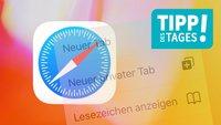 Safari auf dem iPhone: 4 sekundenschnelle Kurztipps
