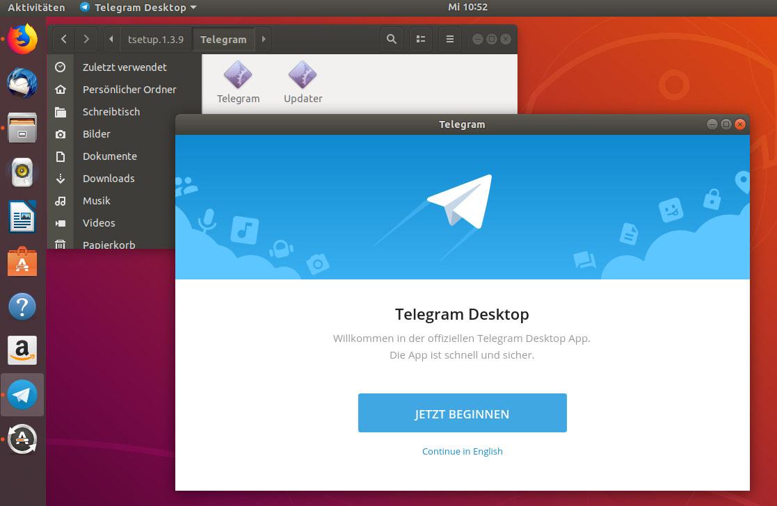Telegram in Linux installieren Ubuntu, Mint, ... – so geht's
