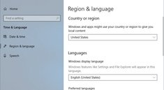 Windows 10: Sprache ändern – so geht's