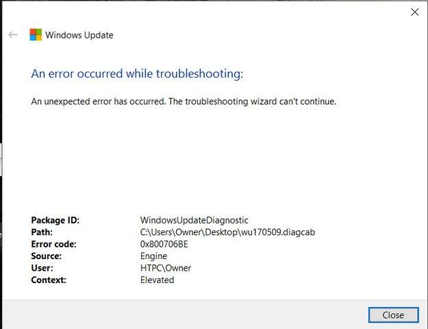 Lösung: Fehlercode 0x800706be in Windows