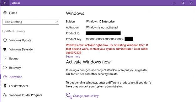 Lösung: 0x8007232B-Fehler bei Windows-Aktivierungsversuch