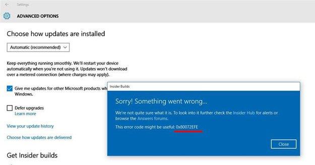 Lösung: 0x80072EFE-Fehler in Windows beheben