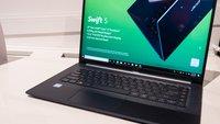 Acer Swift 5 (2018) im Hands-On-Video: Das leichteste 15,6-Zoll-Notebook der Welt