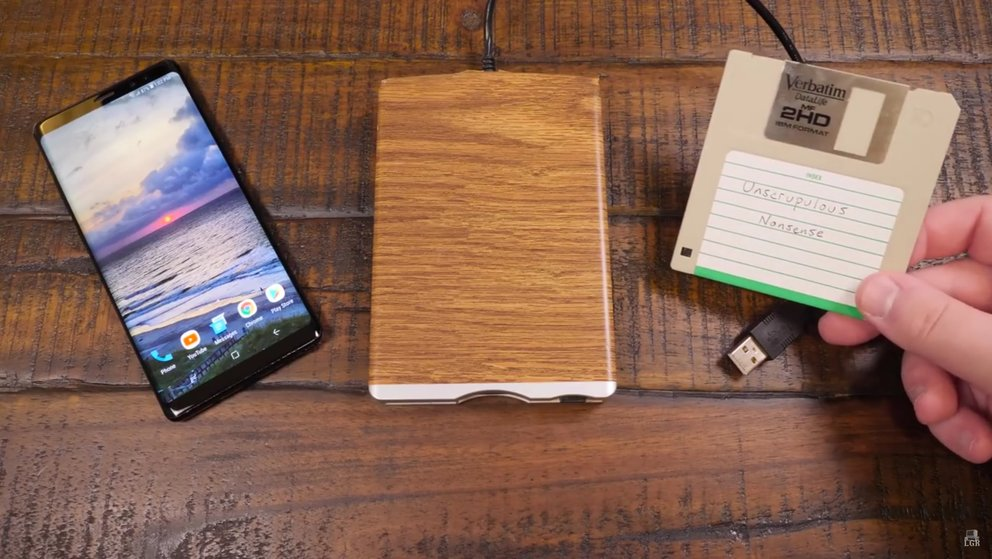Verrückt: So lassen sich Disketten an einem Android-Smartphone nutzen