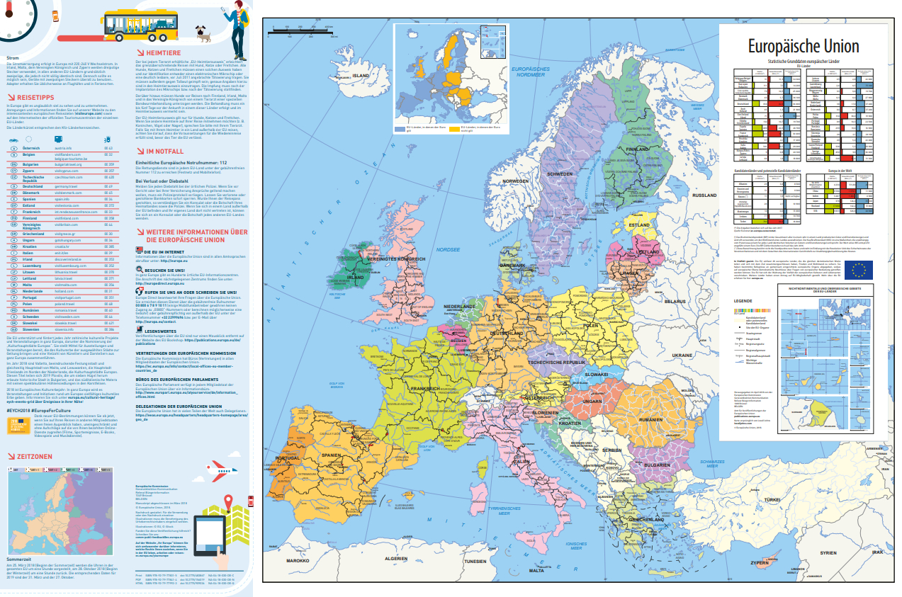Karte Von Europa 2019.Europakarte 2018 2019 Unterwegs In Europa Download
