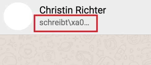 Whatsapp wann schreibt bei steht Wann Steht