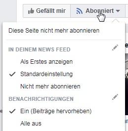 Facebook Abonnieren Aktivieren