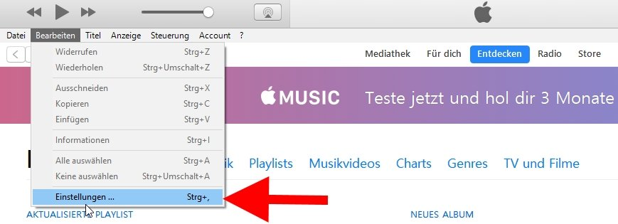 iTunes Mediathek