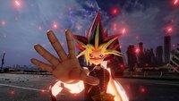 Yugi beschwört zum Kämpfen den schwarzen Magier und Slifer in Jump Force