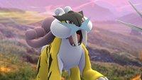 Pokémon GO: Raikou fangen - Guide für Feldforschung und Raid