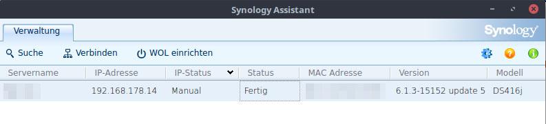 Synology Suchen