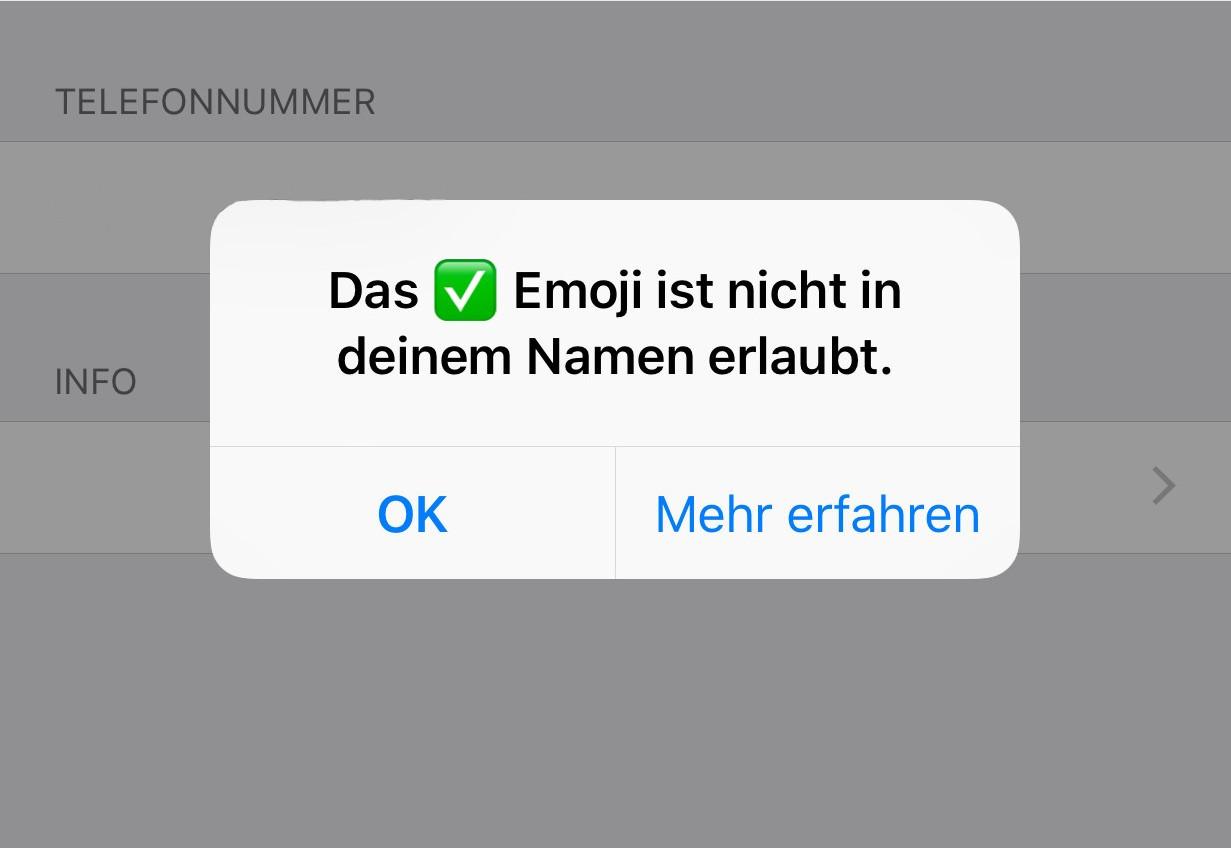 whatsapp zeigt keine namen mehr an