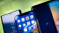 Akkulaufzeit-Vergleich: Samsung Galaxy Note 9 vs. Google Pixel 3 XL, Sony Xperia XZ3 und iPhone XS Max