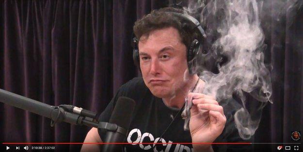 """Kiffender Tesla-Chef: Elon Musk """"bufft sich straff"""" vor laufender Kamera"""