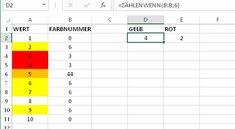 Excel: Farbige Zellen zählen – so geht's