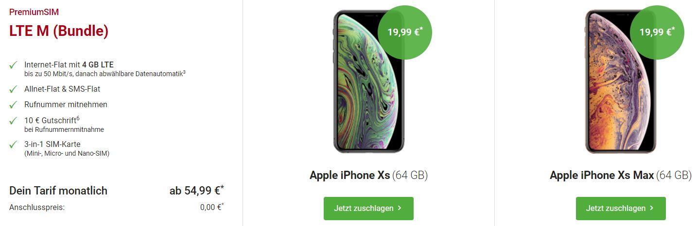 Iphone Xs Max Mit Vertrag Bei Anderen Anbietern Giga