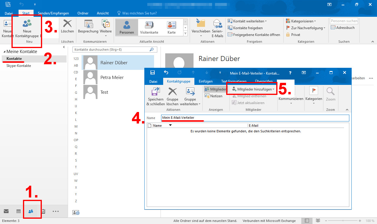 Outlook Verteiler Erstellen 2016 2010 2007 So Geht S
