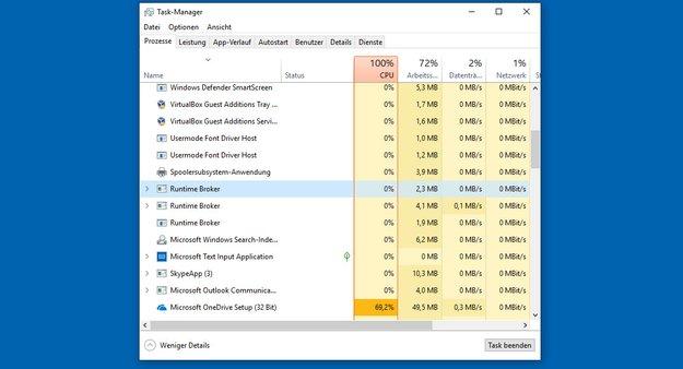 Lösung: Runtimebroker.exe belastet CPU (Windows-10-Prozess) – Deaktivieren?