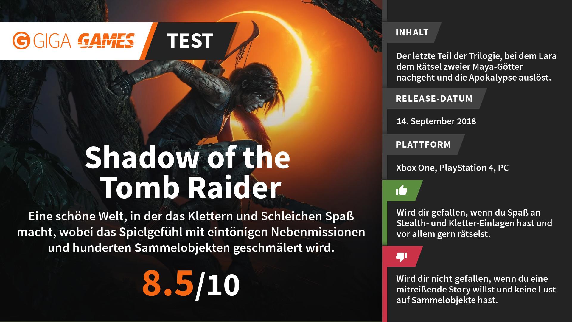 Shadow Of The Tomb Raider Im Test Mit Schlamm Schuld Und Schatulle