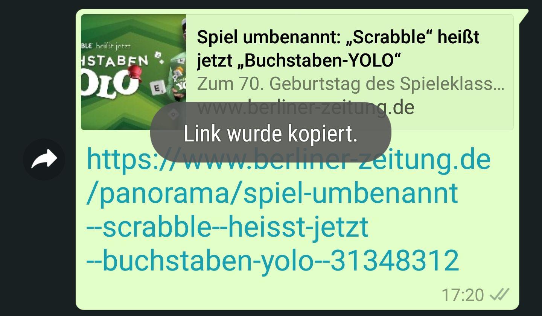 In Whatsapp Einen Link Kopieren So Gehts