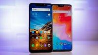 Xiaomi Pocophone F1 vs. OnePlus 6: Vergleich der günstigen High-End-Smartphones