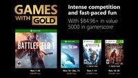 Xbox Games with Gold: Das sind die Gratis-Spiele im November 2018