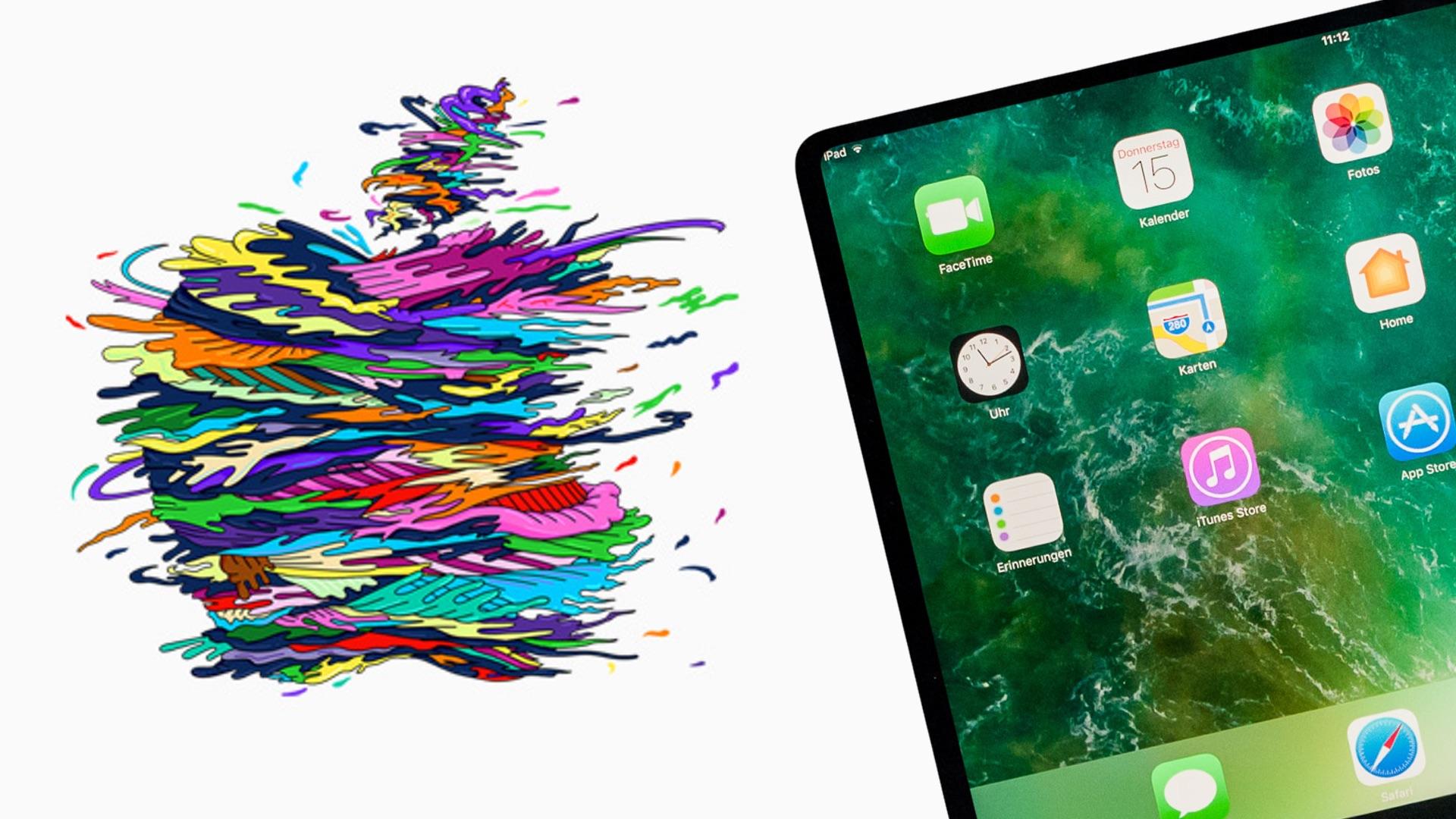 apple event was sollen das ipad pro 2018 und neue macs. Black Bedroom Furniture Sets. Home Design Ideas