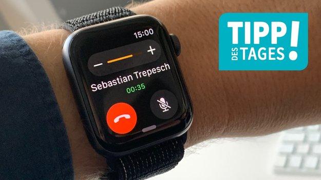 Apple Watch: Lautstärke von Siri, Hinweistönen und Telefonaten einstellen, so gehts