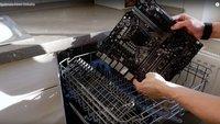 Overclocking-Experte Der8auer säubert seine Komponenten im Geschirrspüler