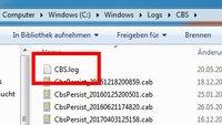 Windows: CBS.log-Datei belegt viel Speicherplatz – Löschen?