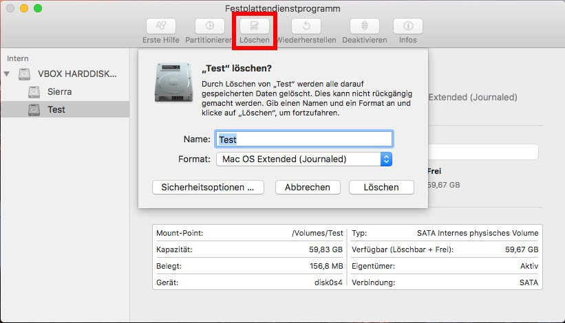 mac os x externe festplatte formatieren exfat