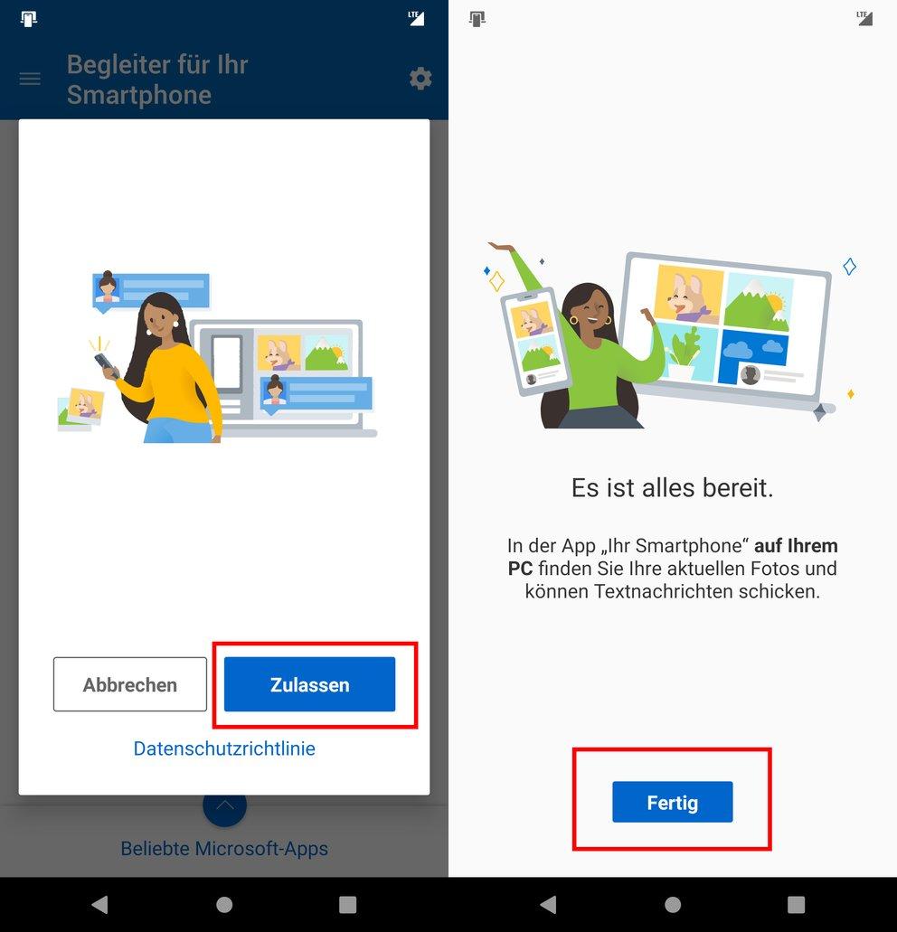 Verbinden App Windows 10