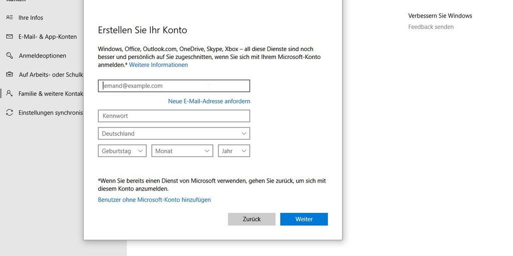 Windows 10 Benutzer Hinzufügen Benutzerkonto Löschen Und ändern