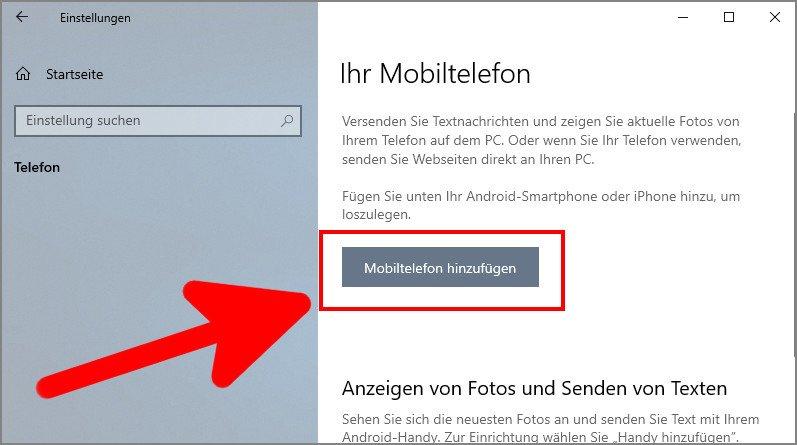 Handy Mit Windows 10